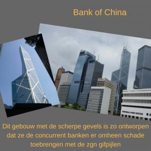 gifpijl, Hong Kong, banken, Fengshui, Feng Shui